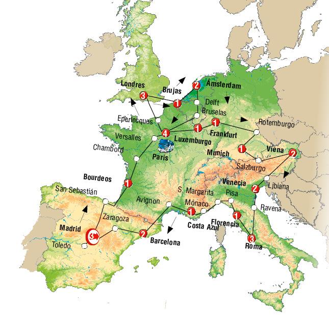 capitales y paisajes europa