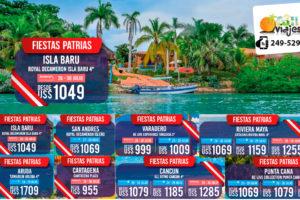 Ofertas Fiestas Patrias en Isla Baru