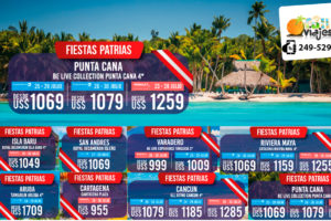 Ofertas Fiestas Patrias en Punta Cana