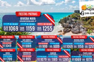 Ofertas Fiestas Patrias en Riviera Maya