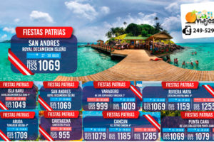 Ofertas Fiestas Patrias en San Andres