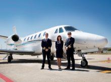 Presentación de Air Europa Private Jets en la Terminal Ejecutiva del Aeropuerto de Barajas, Madrid, en la foto un Jet Citation XLS.