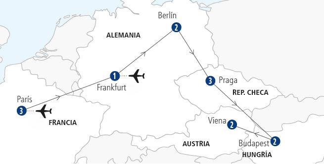 mapa-viaje-paris-berlin-praga-budapest-viena